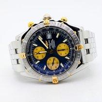 Breitling Crosswind Racing Золото/Cталь 42mm Синий Без цифр