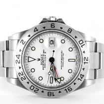 Rolex Explorer II Acero 40mm Blanco Sin cifras