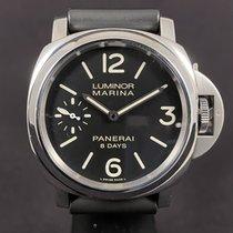 Panerai Luminor Marina 8 Days Сталь 44mm Черный Aрабские