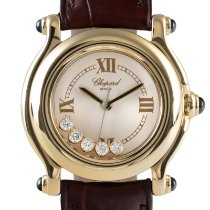 Chopard Happy Sport Yellow gold 26.5mm White
