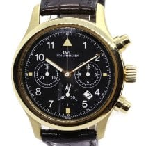 IWC Pilot Chronograph pre-owned 36mm Black Chronograph Date Leather