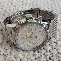 Breitling Transocean Chronograph 38 Stahl Silber