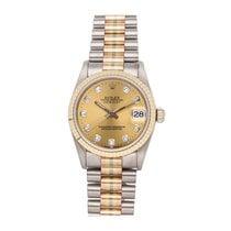 Rolex Datejust Oro blanco 31mm Champán Sin cifras