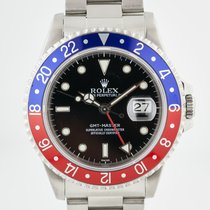 Rolex Steel Automatic Black No numerals 40mm pre-owned GMT-Master