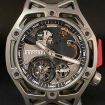 Hublot Techframe Ferrari Tourbillon Chronograph Titanio 45mm Negro