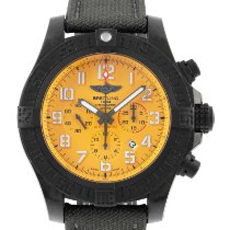 Breitling Avenger Hurricane pre-owned 50mm Orange Chronograph Date Textile