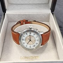 Longines Lindbergh Hour Angle Steel 38mm Silver Roman numerals