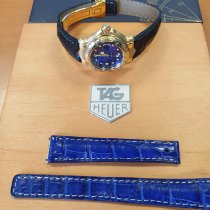 TAG Heuer 6000 Oro amarillo 28.5mm Azul Sin cifras