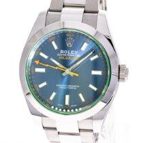 Rolex Milgauss Zeljezo 40mm Plav-modar Bez brojeva