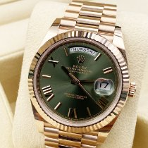 Rolex Day-Date 40 Oro rosa 40mm Verde Romani Italia, Roma