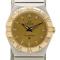 Omega Constellation Quartz Золото/Cталь 27mm Цвета шампань