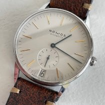 NOMOS Orion Datum pre-owned 38mm White Date Leather