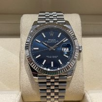 Rolex Datejust Gold/Steel 41mm Blue Roman numerals