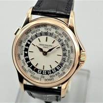 Patek Philippe Red gold Automatic 37mm pre-owned World Time