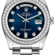 Rolex Day-Date 36 White gold 36mm Blue No numerals United States of America, New York, New York