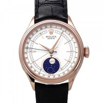 Rolex Cellini Moonphase Or rouge 39mm Blanc