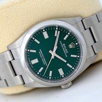 Rolex Oyster Perpetual 36 Stål 36mm Grønn Ingen tall