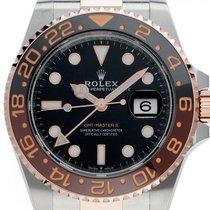 Rolex (ロレックス) GMT マスター II ゴールド/スチール 40mm ブラック