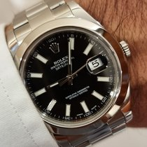 Rolex pre-owned Automatic 41mm Black Sapphire crystal 10 ATM