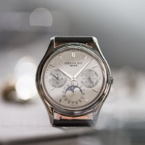 Patek Philippe Perpetual Calendar Platinum 36mm Silver Arabic numerals
