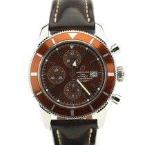 Breitling Superocean Heritage Chronograph Staal 46mm Bruin Geen cijfers