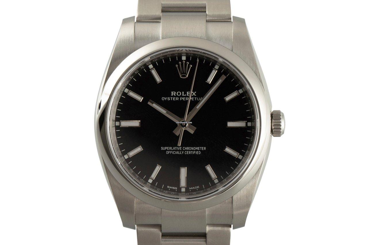 Rolex Oyster Perpetual 34 114200 2020 подержанные