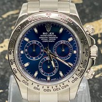 Rolex Witgoud Automatisch Blauw Arabisch 40mm tweedehands Daytona