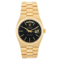 Rolex Day-Date Oysterquartz Yellow gold 36mm Black No numerals