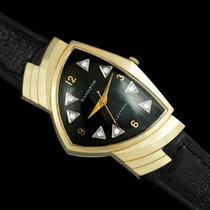 Hamilton Yellow gold Black 31.5mm pre-owned Ventura