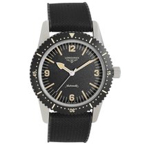 Longines Heritage pre-owned 42mm Black Year Rubber