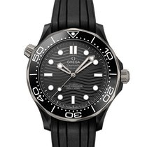 Omega Cerámica Automático Negro Sin cifras 43.5mm nuevo Seamaster Diver 300 M