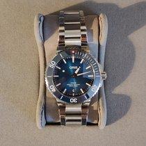 Oris Aquis Date Steel 39.5mm Blue No numerals