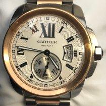 Cartier Calibre de Cartier Золото/Cталь 42mm Белый Римские
