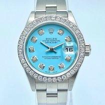 Rolex Oyster Perpetual Lady Date Steel 26mm Blue United Kingdom, Liverpool