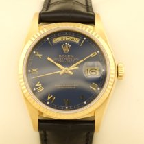 Rolex Day-Date 36 Yellow gold 36mm Blue No numerals
