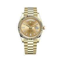 Rolex Day-Date 40 подержанные 40mm Золотой Дата Желтое золото