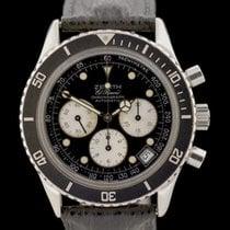 Zenith El Primero Chronograph Steel 40mm Black No numerals