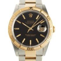 Rolex Datejust Turn-O-Graph Gold/Steel 36mm Black