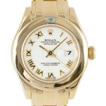 Rolex Pearlmaster Yellow gold 29mm White