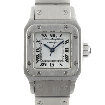 Cartier Santos Galbée Сталь 23.5mm Белый