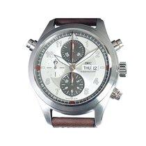 IWC 파일럿 더블 크로노그래프 신규 자동 크로노그래프 시계 및 정품 박스와 서류 원본 IW371802