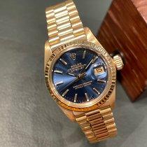 Rolex Lady-Datejust occasion 26mm Bleu Date Or jaune