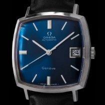 Omega Genève Steel 32mm Blue Arabic numerals