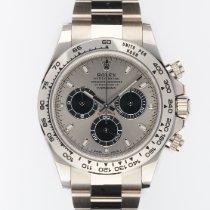 Rolex Daytona Weißgold 40mm Silber Arabisch Schweiz, Zurich