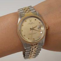 Rolex Oyster Perpetual Date 15053 Muito bom Ouro/Aço 34mm Automático