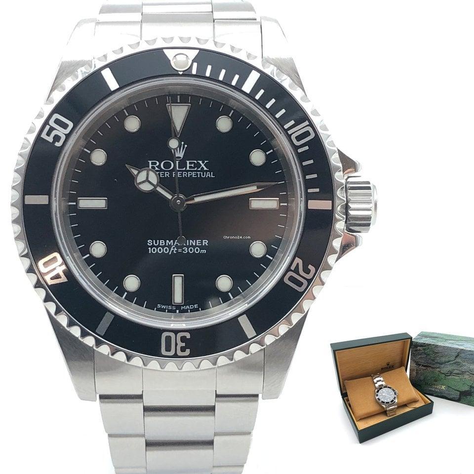 Rolex Submariner (No Date) 14060M 2002 подержанные