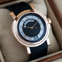 Breguet Rose gold Automatic Black 39mm pre-owned Marine