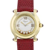 Chopard Happy Sport Yellow gold 26mm White