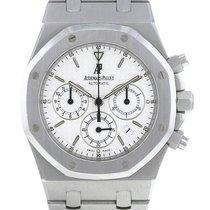 Audemars Piguet Royal Oak Chronograph occasion 39mm Blanc Chronographe Acier