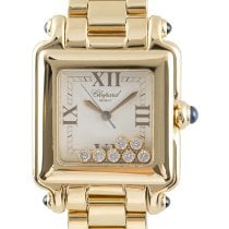 Chopard Yellow gold Quartz White 24.5mm pre-owned Happy Sport